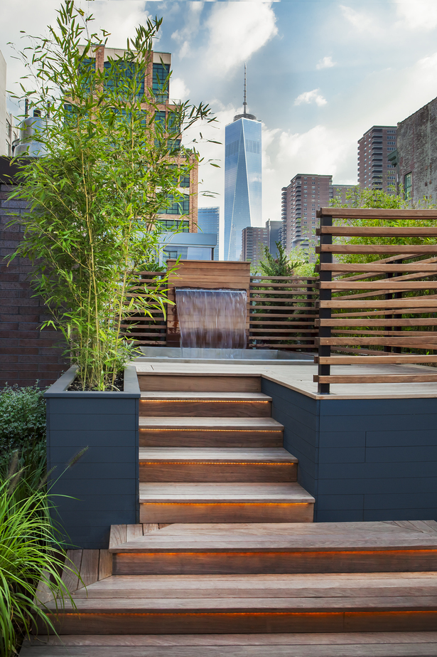 Tribeca private roof garden and terrace gunn landscape for Top landscape architecture firms