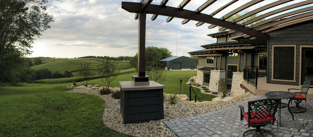 Karr Residence. Panorama Looking North at Farm Land. Exterior Living. Good Times.