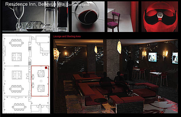 Initial concept renderings Lounge Area