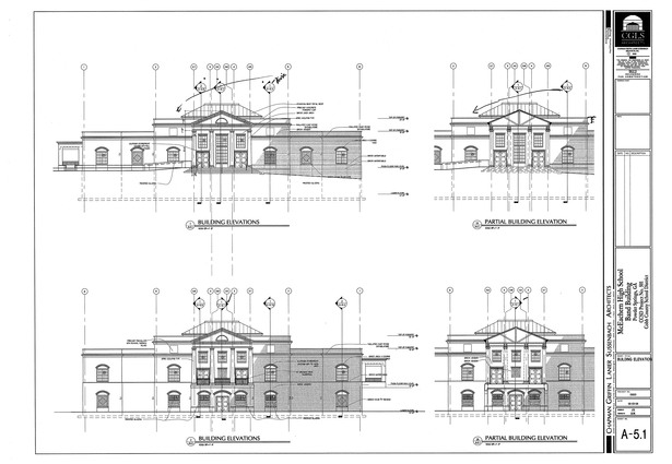 McEachern Band Building-building elevations
