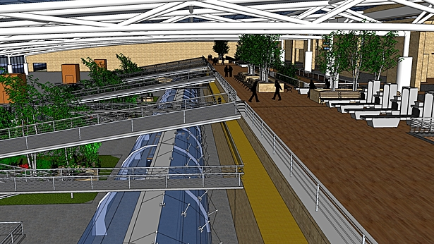 Trolley Station, Columbus International Transit Center