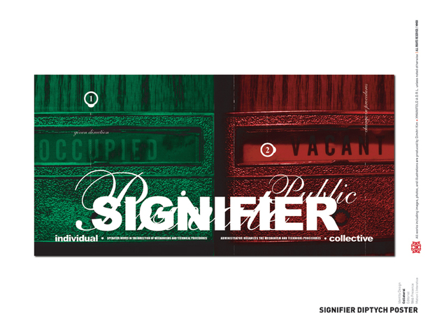 Signifier Diptych Poster