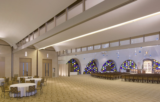 View of renovated Social Hall looking toward Sanctuary