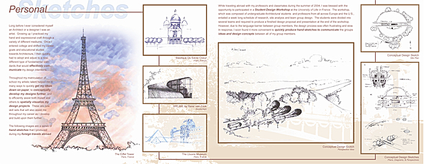 Personal sketches/renderings presentation board 01
