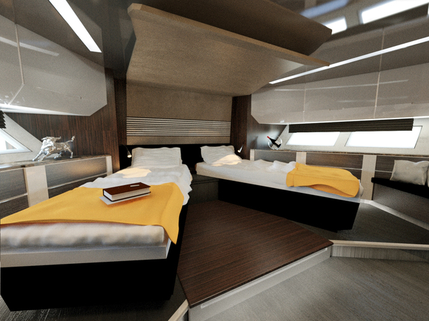 Twin room with transformed beds