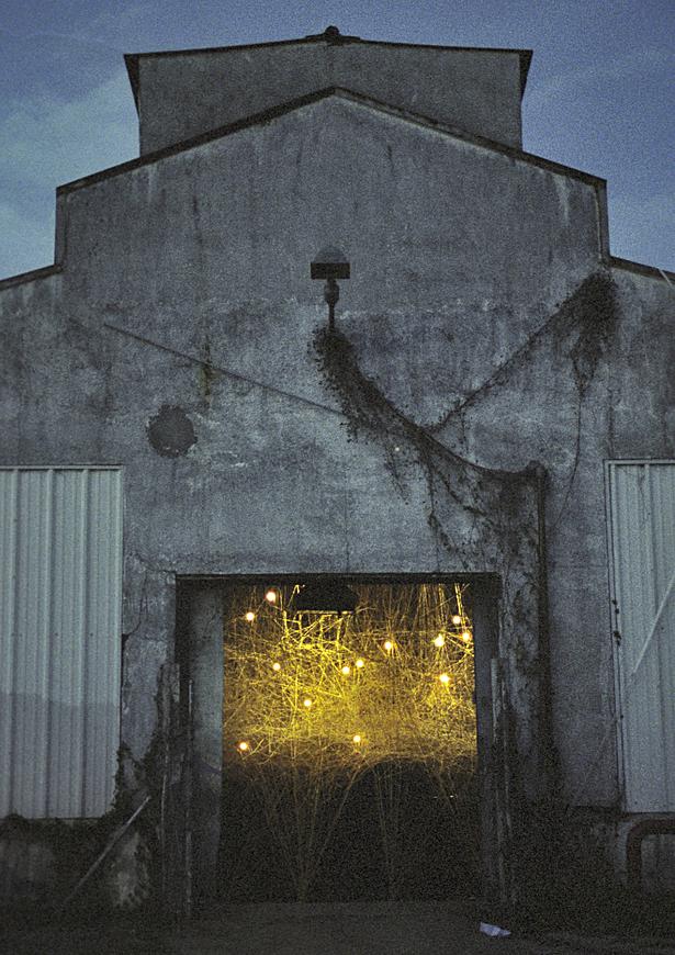 Exterior view, night