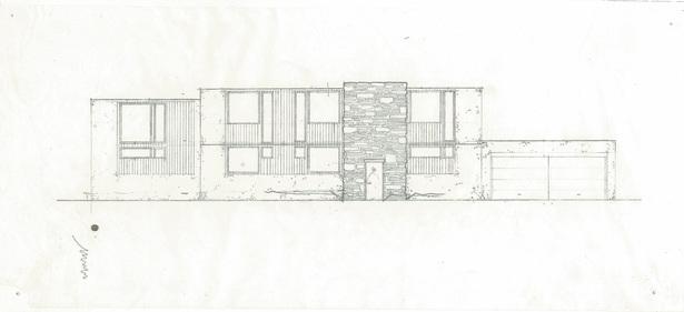 facade study. pencil