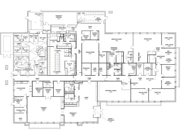 Simplified Floor Plan