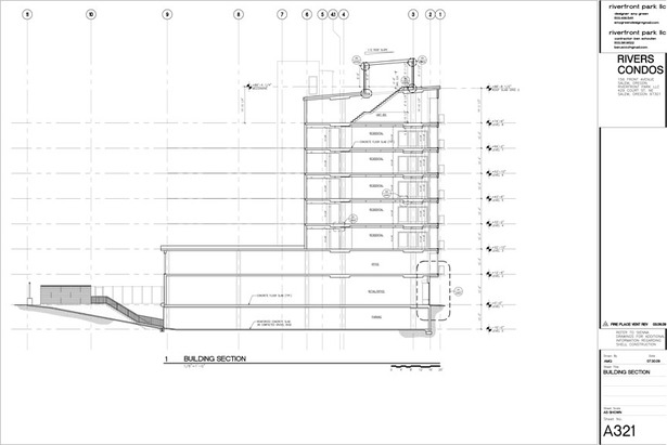 CAD section through condo building