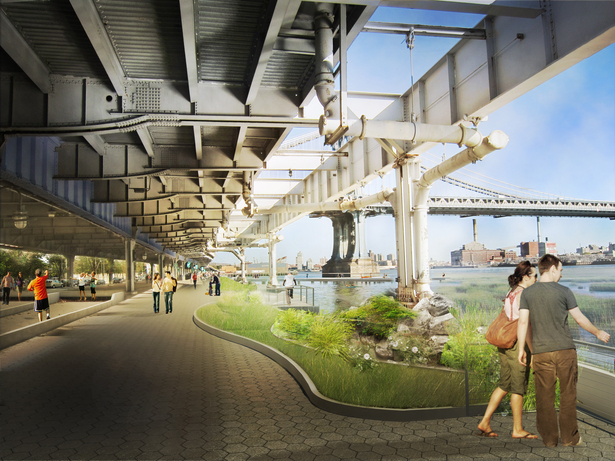Rendering of proposed East River Esplanade