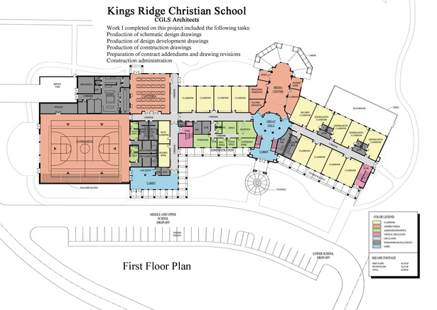 Kings Ridge Christian School-first floor plan