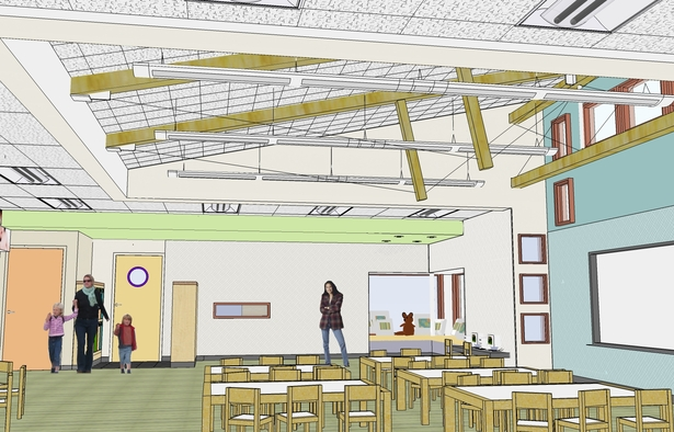 Sketchup rendering of Interior