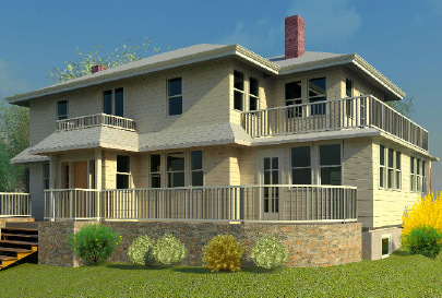 Home on second cliff north river architectural design for Architecture firms that use revit