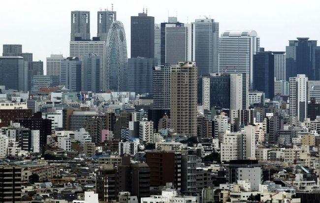 High-rise buildings soar in Tokyo. (AP Photo/Shuji Kajiyama)