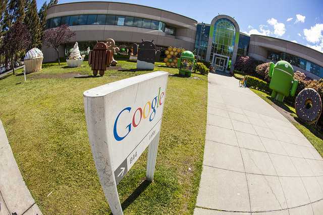 2014 photo of the Android Garden at the Google headquarters in Mountain View. Photo: Anthony Quintano.