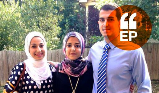 Yusor Abu-Salha, Razan Abu-Salha and Deah Barakat Credit Yousef Abu-Salha via facebook.com