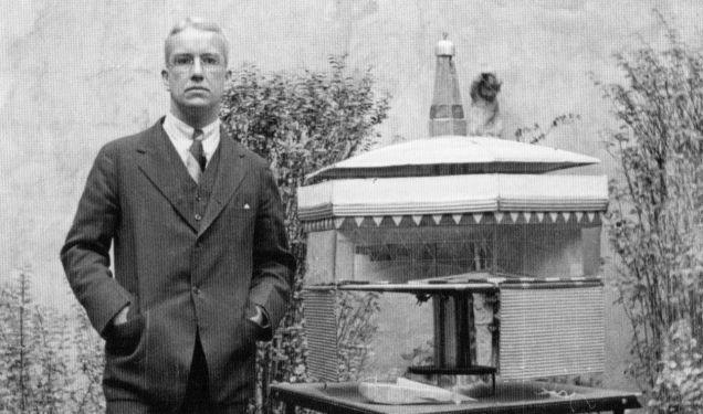 Buckminster Fuller, 1929. (Image via paleofuture.gizmodo.com)