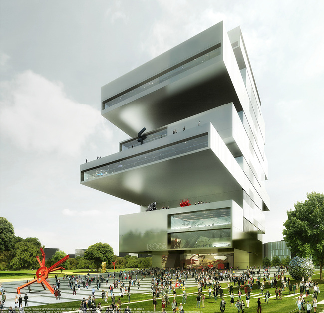 Winning design for Moscow's new National Center for Contemporary Arts (NCCA) by Heneghan Peng Architects