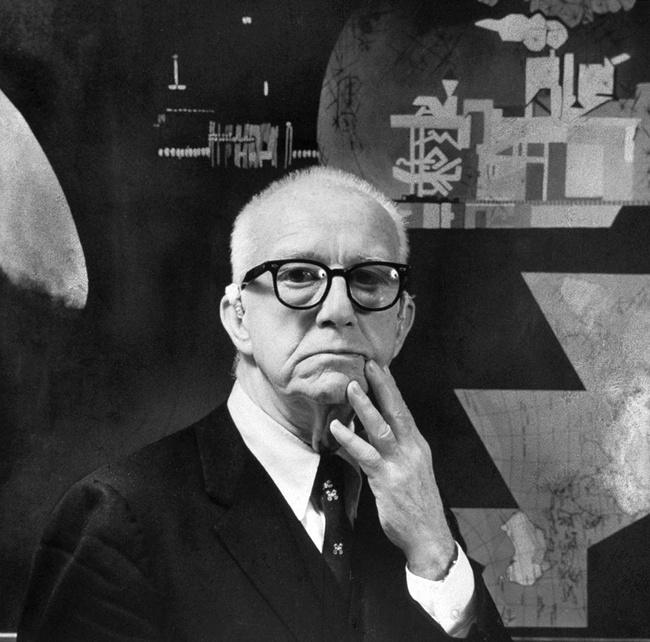 Buckminster Fuller, image via Maia Valenzuela/flickr.