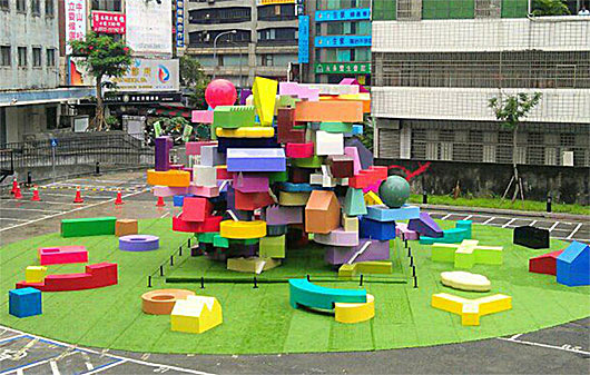 Vertical village exhibition in Taipei (Image: MVRDV)
