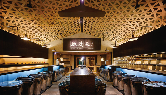 Bar & Restaurants: Lin Mao Sen Tea Store | Taipei, Taiwan by Ahead Concept Design. Photo courtesy of INSIDE - World Festival of Interiors.