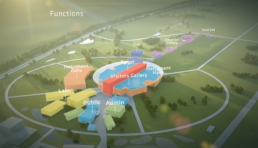 Still from the new European Spallation Source (ESS) Video by Henning Larsen Architects