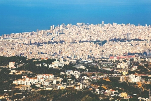 Aerial view of Beirut, Lebanon (Photo: VOA/V. Undritz)