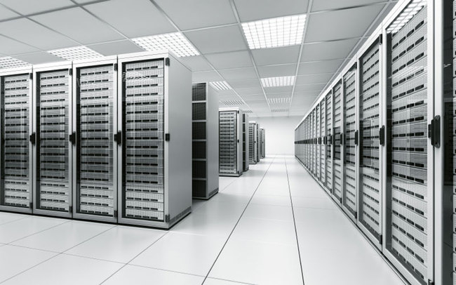 """Often people think of [data centers] as almost like cathedrals of servers. Very clean computer equipment, white walls and things—the reality is, these are factories,"" states Tate Cantrell, CTO of the data-center company Verne Global, in this article by Ingrid Burrington. Credit: Wikipedia"