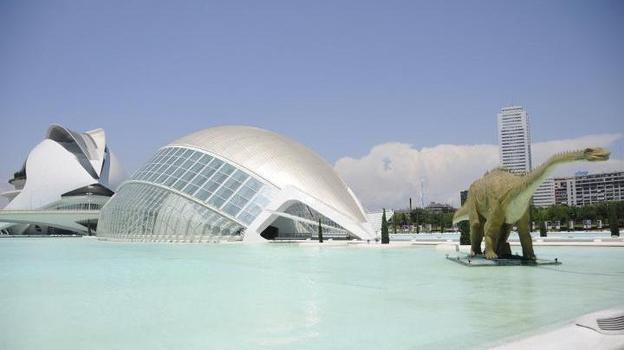 Valencia spent more than $1.5 billion to build the City of Arts and Sciences, the museum complex shown here in a photo from summer 2011. (Marie McGrory/NPR)