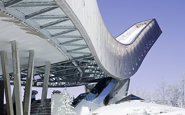 The JDS-designed Holmenkollen Ski Jump in Oslo, Norway