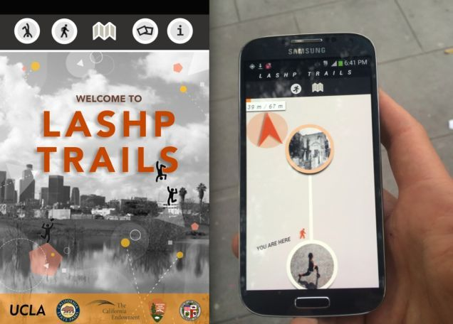 Preview of LASHP Trails app, image via Gizmodo.