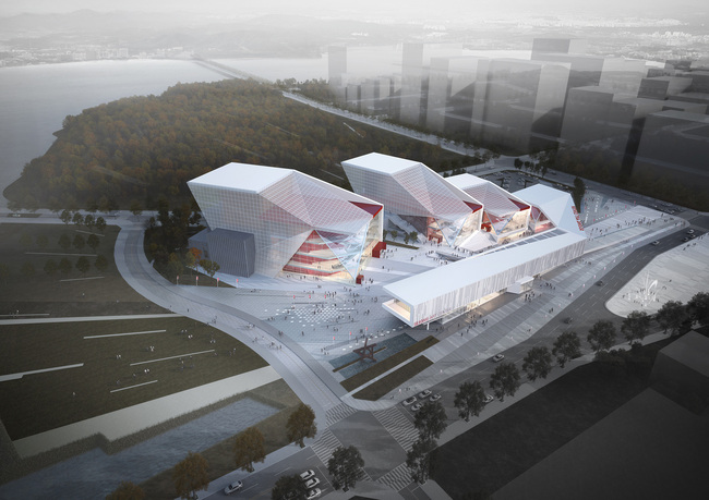 Aerial view (Image: H Architecture & Haeahn Architecture)