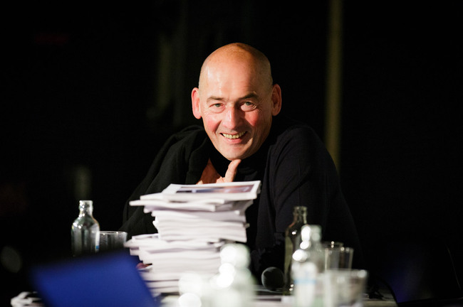 Winner of the Johannes Vermeer Award 2013: Rem Koolhaas (Photo: Fred Ernst)