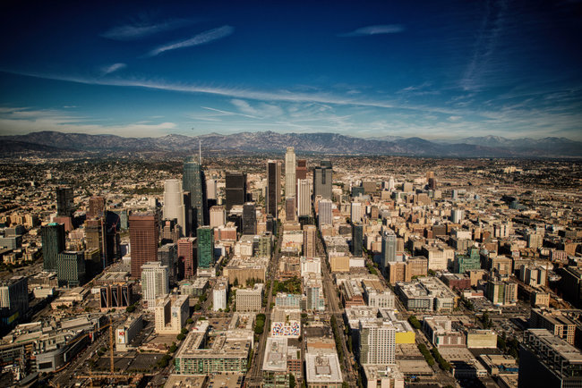 Downtown Los Angeles, October 2016. Photo: Jeff Cleary.