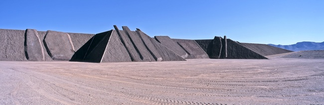 City by Michael Heizer. (Photo: Tom Vinetz/ © Triple Aught Foundation; image via unframed.lacma.org)