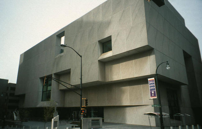 The Atlanta-Fulton Central Library was designed by Bauhaus-trained architect Marcel Breuer. It first opened in 1980. Image from Carleton College, via news.wabe.org.