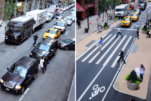 Bike Lane on 51st Street in Manhattan. Photo: NYC DOT