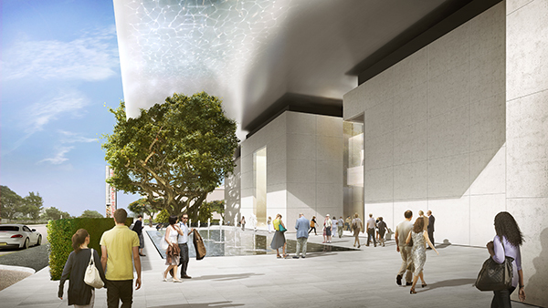 Rendering of the Norton Museum of Art expansion. (via artnet.com; Image: Foster + Partners)
