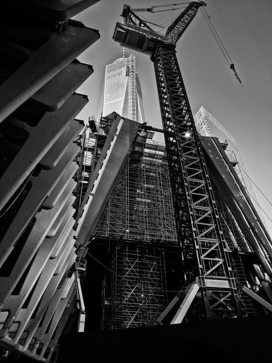 The view of Tower One from the ground via Justin Davidson
