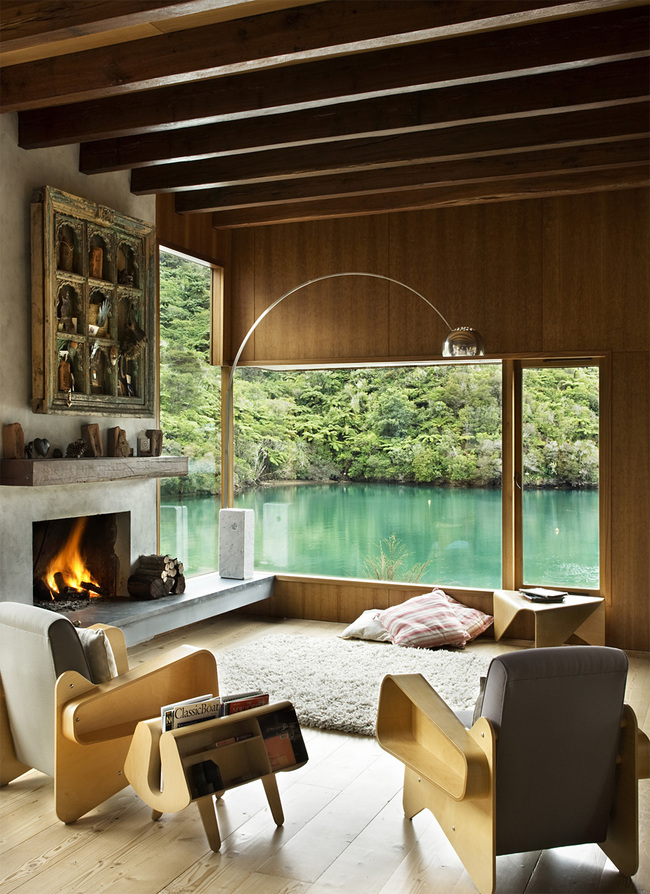 Waterfall Bay House in Marlborough, New Zealand by Bossley Architects