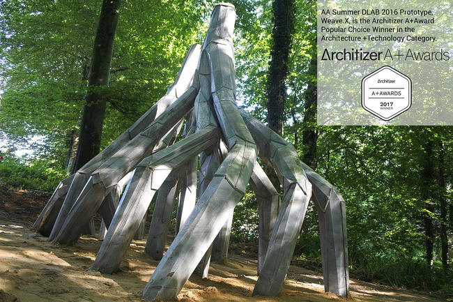 AA Summer DLAB 2016 Prototype, Weave.X, built by our students and tutors, is the Architizer A+Award Popular Choice Winner in the Architecture +Technology Category.