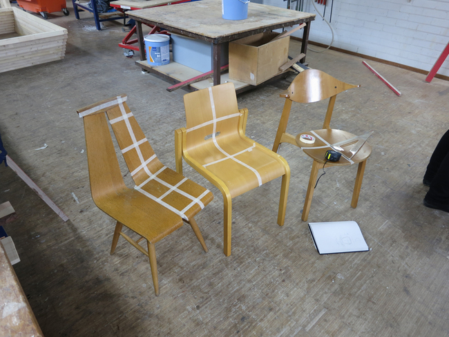 Preparing our chairs for the digitizer