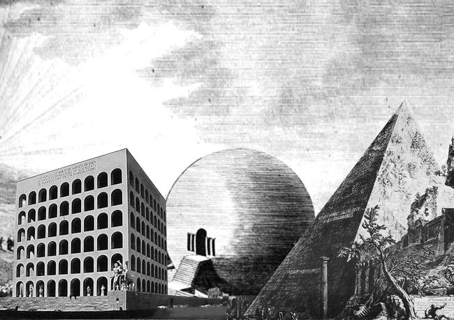 Pure 2 a. Palazzo della Civilta Italiana, Giovanni Guerrini, Rome 1939 b. Haus des Gaertners, Claude Nicholas Ledoux, Chaux, c 1789 c. Pyramid of Cestius, Giambattista Piranesi, Rome, c 1747