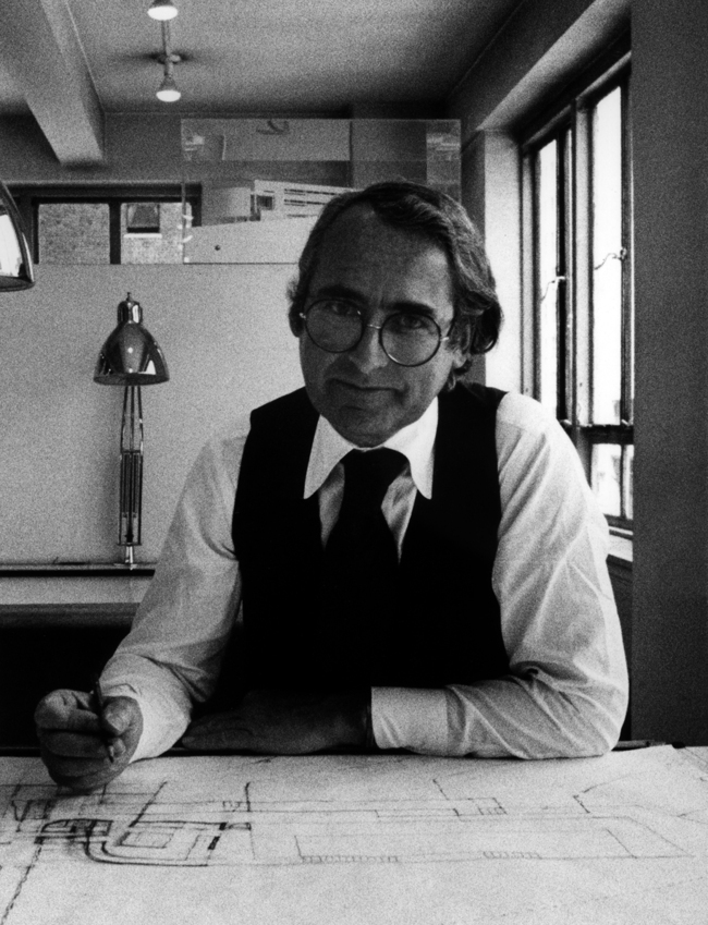 Richard Meier Portrait at his office on 136 East 57th Street - Richard Meier & Partners Architects