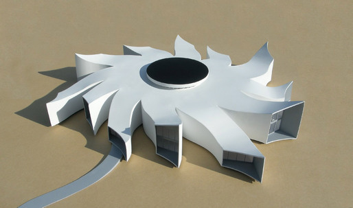 Michael Jantzen's latest conceptual building design, The Black Hole Research Center.