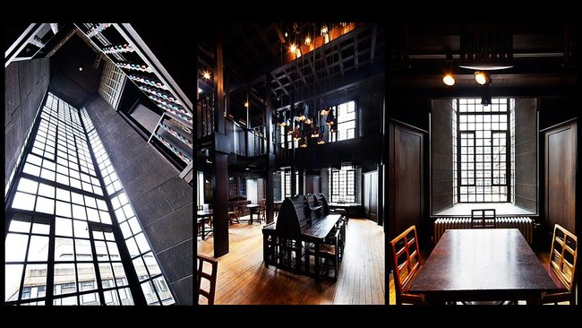 The Mackintosh Library at the Glasgow School of Art before the devastating fire. (Photos: Glasgow School of Art; image via bbc.co.uk)