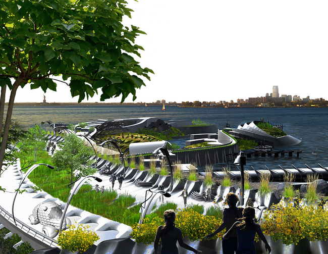 Urban Design Merit Award Winner: Urbaneer Resilient Water Infrastructure in Brooklyn, NY by Terreform ONE (Image Credit: Terreform ONE)