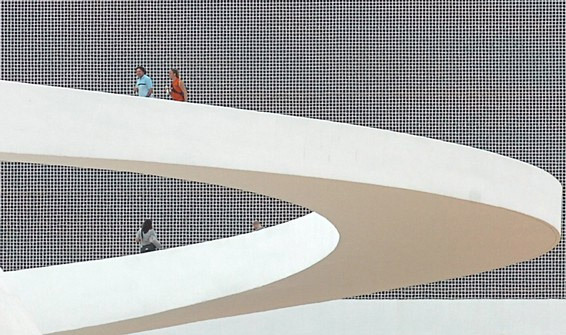 Cultural Complex of the Republic, Brasília, exterior ramp (Photo: Agência Brasil)