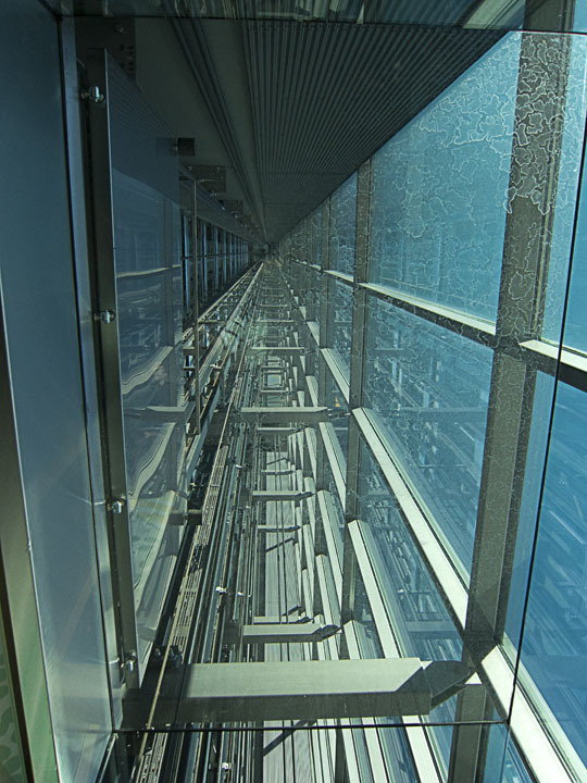 Elevator shaft at Kone Headquarters