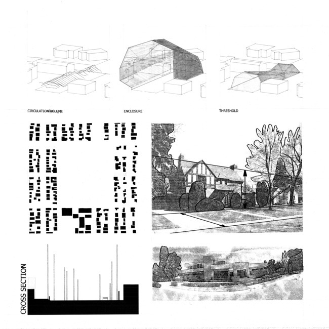 presentation drawings for a house project by Patrick Beseda